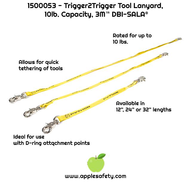 "1500053 LNYD,TOOL,.5X12""SGL,10LBTRIGGER TO TRIGGER Trigger2trigger lanyard 0.5"" X 12"" - 10 lb. capacity"