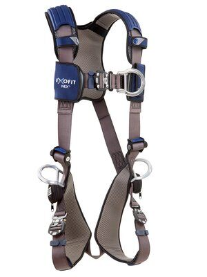 3M™ DBI-SALA® ExoFit NEX™ Vest-Style Positioning/Climbing Harness, Aluminum front, back & side D-rings, locking quick connect buckles, 1113076 1113079 1113082 1113085, front