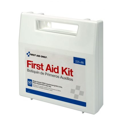 225-U/FAO - First Aid Only, 50 Person First Aid Kit, Plastic Case with Dividers, front 2