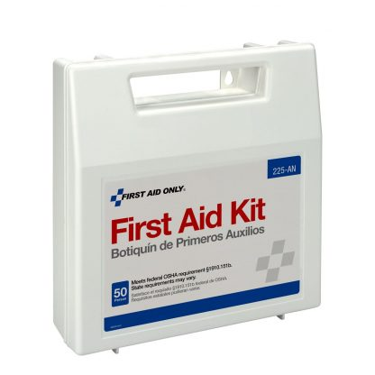 225-U/FAO - First Aid Only, 50 Person First Aid Kit, Plastic Case with Dividers, front 1
