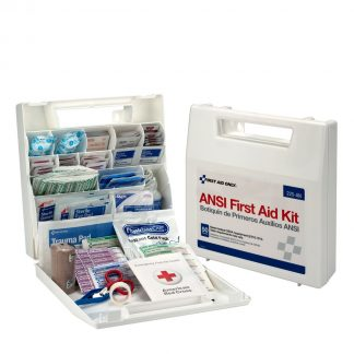 225-U/FAO - First Aid Only, 50 Person First Aid Kit, Plastic Case with Dividers, open