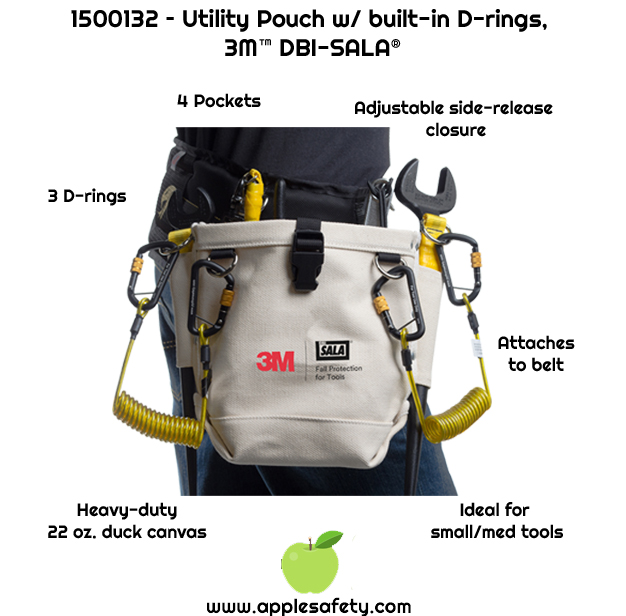 Canvas style utility pouch     Two outside and inside pockets     Tether ready built-in rings     Adjustable side-release closure system