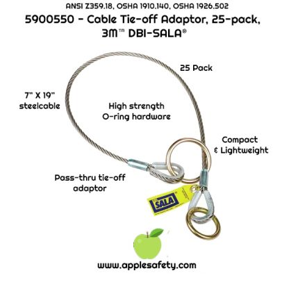 5900550 5900551 5900552 5900560, 4 ft. (1.2m) cable tie-off adaptor, pass-thru type