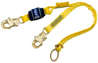 1246085, EZSTOP TIE B 6'9502116 ENDS, 6 ft. (1.8m) web single-leg with adjustable D-ring for tie-back and snap hooks at each end