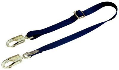 1234030 - Pole Climber's Adjustable Web Positioning Lanyard, 3M™ DBI-SALA®, 6 ft. (1.8m) single-leg with adjustable web and swiveling snap hooks at each end