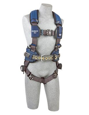 3M™ DBI-SALA® ExoFit NEX™ Mining Vest-Style Harness, Aluminum back & side D-rings, locking quick connect buckles, sewn in hip pad & belt, lumbar protection, 1113195 1113196 1113197 1113199, front