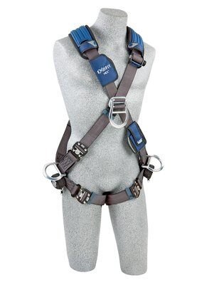 3M™ DBI-SALA® ExoFit NEX™ Cross-Over Style Positioning/Climbing Harness, Aluminum front, back & side D-rings, locking quick connect buckles, 1113106 1113109 1113112 1113115, front
