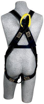 Delta™ Arc Flash Harness, Dorsal/Front Web Loops, QC/PT, Nomex® / Kevlar® fiber webbing, no metal above the waist, front & back web loop, quick connect buckle legs, leather insulators, 1110810 1110811 1110812 1110815, rear