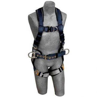 ExoFit™ Construction Style Positioning/Climbing Harness, Back & front D-ring, sewn in back pad & belt with side D-rings, quick-connect buckles, 1108975 1108977 1108978 1108979, front