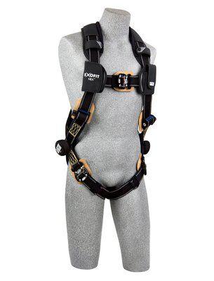 ExoFit NEX™ Arc Flash Harness, QC/QC, Nomex®/Kevlar® fiber web, PVC coated aluminum back D-ring, locking quick-connect buckles, comfort padding, 1103085 1103086 1103087 1103088, front 2