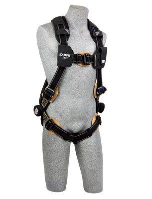 3M™ DBI-SALA® ExoFit NEX™ Arc Flash Harness, Nomex®/Kevlar® fiber web, PVC coated alumninum back D-ring, coated pass-thru buckles, comfort padding, 1113335 1113336 1113337 1113338, front 2