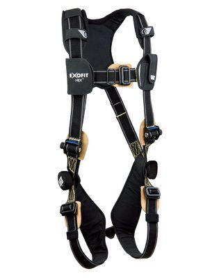 3M™ DBI-SALA® ExoFit NEX™ Arc Flash Harness, Nomex®/Kevlar® fiber web, PVC coated alumninum back D-ring, coated pass-thru buckles, comfort padding, 1113335 1113336 1113337 1113338, front