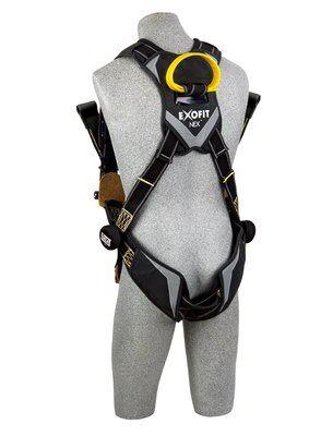 3M™ DBI-SALA® ExoFit NEX™ Arc Flash Rescue Harness, Nomex®/Kevlar® fiber web, dorsal web loop & front rescue loops, locking quick connect buckles, comfort padding, 1113325 1113326 1113327 1113328, rear
