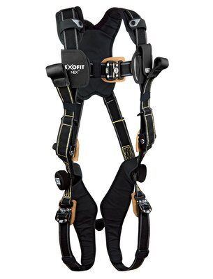 3M™ DBI-SALA® ExoFit NEX™ Arc Flash Rescue Harness, Nomex®/Kevlar® fiber web, dorsal web loop & front rescue loops, locking quick connect buckles, comfort padding, 1113325 1113326 1113327 1113328, front 2