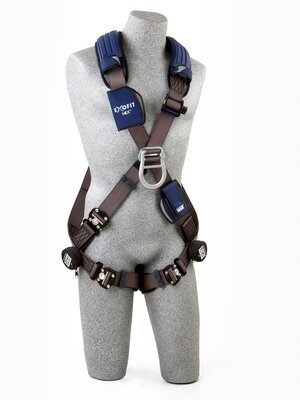 ExoFit NEX™ Cross-Over Style Climbing Harness, QC/QC, Aluminum front & back D-rings, locking quick connect buckles, 1113091 1113094 1113097 1113100, front