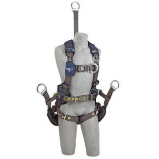"ExoFit NEX™ Oil and Gas Positioning/Climbing Harness, TB/PT, 18"" extension, derrick attachments, hip pad & belt and rigid seat sling, use with1003230 derrick belt, 1113295 1113296 1113297 1113298, front 3"