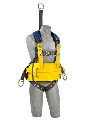 "3M™ DBI-SALA® ExoFit NEX™ Oil and Gas Harness, 18"" back D-ring extension, lifting D-rings, tongue buckle legs and connection for 1003220 derrick belt, comfort padding, 1113285 1113286 1113287 1113288, front 2"