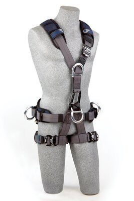 3M™ DBI-SALA® ExoFit NEX™ Rope Access/Rescue Harness, Aluminum front, back and side D-rings, locking quick-connect buckles and hybrid comfort padding, 1113345 1113346 1113347 1113348, front 2