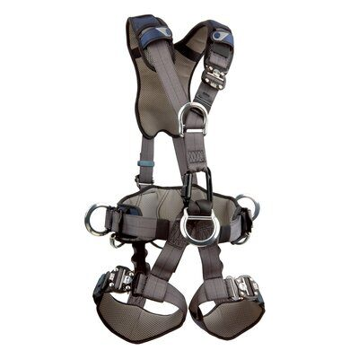 3M™ DBI-SALA® ExoFit NEX™ Rope Access/Rescue Harness, Aluminum front, back and side D-rings, locking quick-connect buckles and hybrid comfort padding, 1113345 1113346 1113347 1113348, front