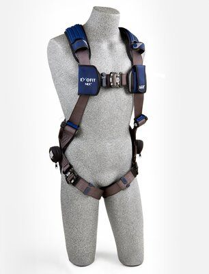 ExoFit NEX™ Vest-Style Harness, QC/QC, Aluminum back D-ring, locking quick connect buckles, 1113001 1113004 1113007 1113010, front 2