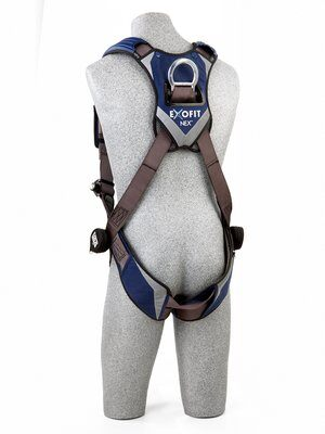 ExoFit NEX™ Vest-Style Climbing Harness, QC/QC, Aluminum front & back D-rings, locking quick connect buckles, 1113031 1113034 1113037 1113040, rear 2