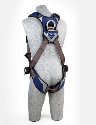ExoFit NEX™ Vest-Style Harness, QC/QC, Aluminum back D-ring, locking quick connect buckles, 1113001 1113004 1113007 1113010, rear 2