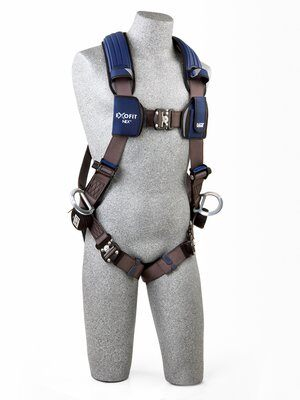 3M™ DBI-SALA® ExoFit NEX™ Vest-Style Positioning Harness, Aluminum back & side D-rings, locking quick connect buckles, 1113046 1113049 1113052 1113055, front
