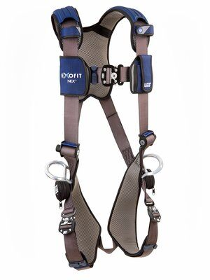 3M™ DBI-SALA® ExoFit NEX™ Vest-Style Positioning Harness, Aluminum back & side D-rings, locking quick connect buckles, 1113046 1113049 1113052 1113055, front 2