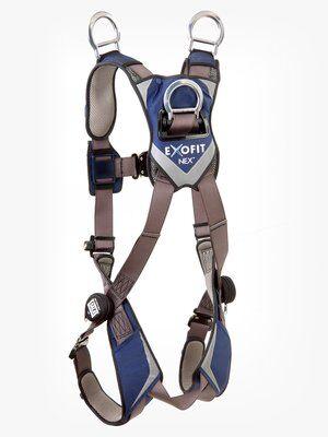 3M™ DBI-SALA® ExoFit NEX™ Vest-Style Retrieval Harness, Aluminum back & shoulder D-rings, locking quick connect buckles, 1113061 1113064 1113067 1113070, front