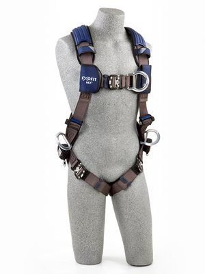 3M™ DBI-SALA® ExoFit NEX™ Vest-Style Positioning/Climbing Harness, Aluminum front, back & side D-rings, locking quick connect buckles, 1113076 1113079 1113082 1113085, front 2