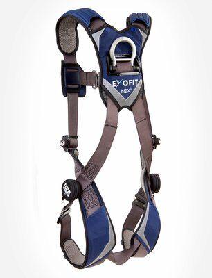 ExoFit NEX™ Vest-Style Harness, QC/QC, Aluminum back D-ring, locking quick connect buckles, 1113001 1113004 1113007 1113010, rear