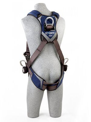 3M™ DBI-SALA® ExoFit NEX™ Vest-Style Positioning/Climbing Harness, Aluminum front, back & side D-rings, locking quick connect buckles, 1113076 1113079 1113082 1113085, rear