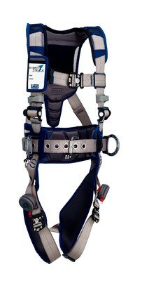 ExoFit STRATA™ Construction Style Positioning/Climbing Harness, Aluminum back and side D-rings, Duo-Lok™ quick connect buckles, waist pad and belt, 1112550 1112551 1112552 1112553, front