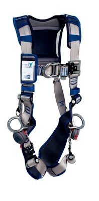 ExoFit STRATA™ Vest-Style Positioning/Climbing Harness, Aluminum back, front, and side D-rings, Tri-Lock Revolver Quick-Connect Buckles, comfort padding, 1112490 1112491 1112492 1112493, front 2