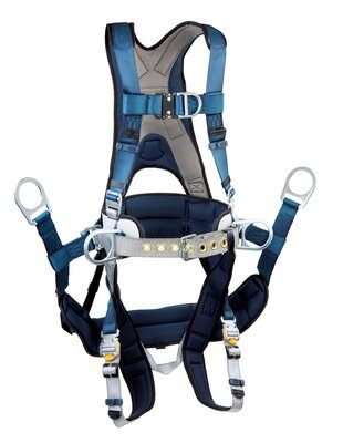 ExoFit™ Tower Climbing Harness, QC/QC, Front & back D-rings, belt with back pad & side D-rings, removeable seat sling with positioning D-rings, quick-connect buckles, 1108650 1108651 1108652 1108657, front