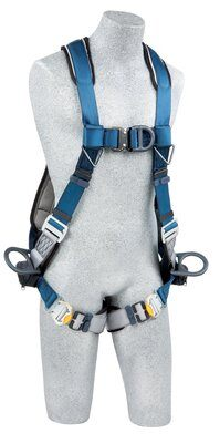 ExoFit™ Wind Energy Harness, PVC-coated, QC/QC, Quick connect buckle legs, coated front, back & side D-rings, 1102340 1102341 1102342 1102343, front 2
