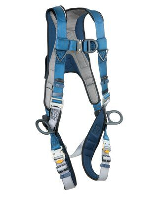 ExoFit™ Wind Energy Harness, PVC-coated, QC/QC, Quick connect buckle legs, coated front, back & side D-rings, 1102340 1102341 1102342 1102343, front