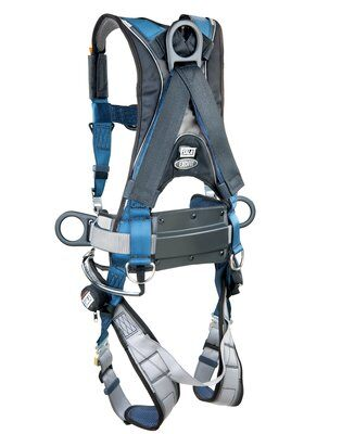 ExoFit™ Wind Energy Harness, PVC-coated, QC/QC, Quick connect buckle legs, coated front, back & side D-rings; Sewn in hip pad & belt with tool loops, 1102385 1102386 1102387 1102388, rear 2