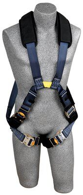 ExoFit™ XP Arc Flash Cross-Over Harness, Dorsal/Front Web Loops, QC, Removable Nomex® / Kevlar® fiber padding, 7000 lb. nylon web, no metal above waist, front & back web loop, quick connect buckles, back & leg Nomex® /Kevlar® fiber pads, leather insulators, 1110870 1110871 1110872 1110873, front