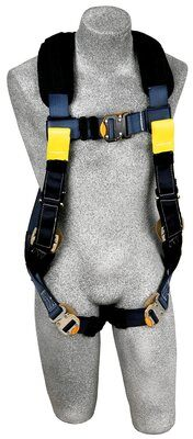 Arc Flash Harness, Dorsal/Rescue Web Loops, QC/QC, Removable Nomex® / Kevlar® fiber padding, 7000 lb nylon web, back web loop, quick connect buckles, back & leg Nomex® / Kevlar® fiber pads, leather insulators, rescue loops, 1110840 1110841 1110842, front 2