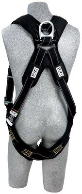 ExoFit™ XP Arc Flash Harness, QC/QC, Vest style, back D-ring, Nomex® / Kevlar® back/leg pads, quick connect buckles, 1100940 1100941 1100942 1100943, rear