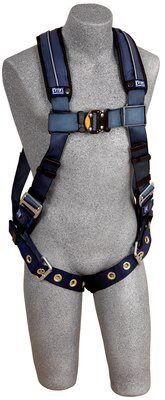 ExoFit™ XP Vest-Style Harness, Back D-ring, loops for belt, tongue buckle legs, 1110125 1110126 1110127 1110128 front