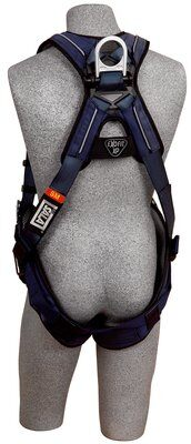 ExoFit™ XP Vest-Style Harness, Back D-ring, loops for belt, tongue buckle legs, 1110125 1110126 1110127 1110128 rear