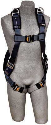 3M™ DBI-SALA® ExoFit™ XP Vest-Style Retrieval Harness, Back & shoulder D-rings, loops for belt, quick-connect buckles, 1110375 1110376 1110377 1110378, front