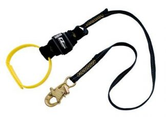 1246305 - 6 ft. (1.8m) web single-leg with Nomex®/Kevlar® fiber webbing and shock pack, web loop choker at one end, snap hook at other end,