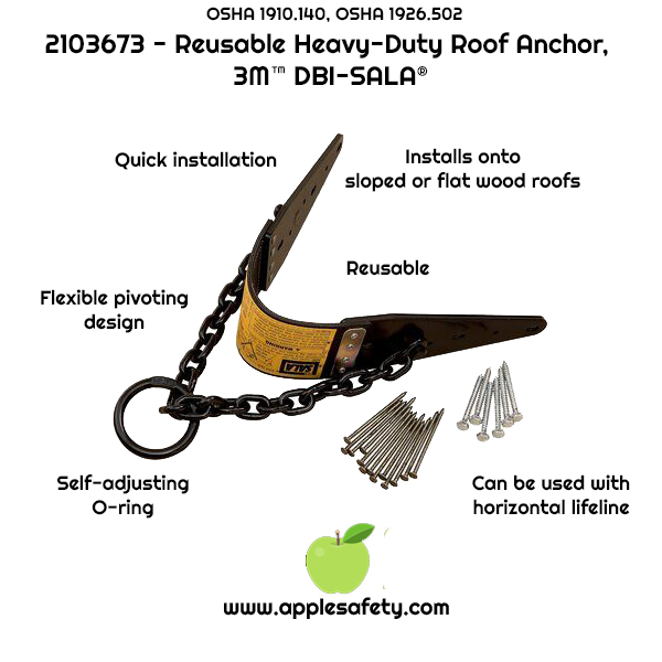 2103673 ANCHOR,ROOF,CHAIN Removable roof anchor w/chain and O-ring