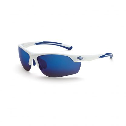 16278 Full blue mirror lens, white frame