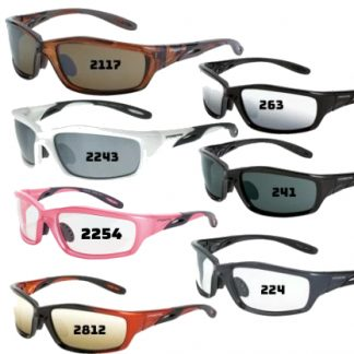 Crossfire Infinity Premium Safety Eyewear The full frame Crossfire Infinity Safety Glass joins the list of one of top selling designs. The comfortable fit is easy to wear all day and is offered in various options including polarized.