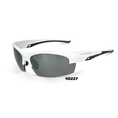 40227 Silver Mirror Polarized and White Frame 674326288994