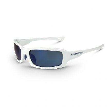 20278 Blue mirror lens, white frame